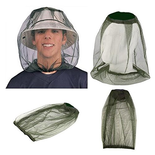 Sellmore Mosquito Head Net,Insect Head Net Mesh Protective Cover Mask Anti-mosquito Bee Bug Insect Fly Mask Cap with Insect Shield