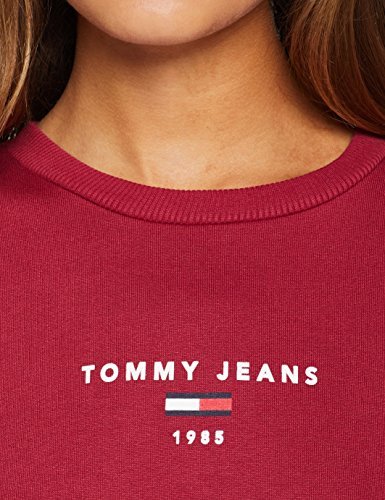 Rouge Clean Femme Tommy Manches Logo Jeans 610 Red Sweatshirt rumba Longues EFfHwf0xq