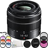 Panasonic Lumix G Vario 14-42mm f/3.5-5.6 II ASPH. MEGA O.I.S. Lens 8PC Accessory Bundle – Includes 3PC Filter Kit (UV + CPL + FLD) + MORE - International Version (No Warranty)
