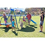 IronKids-Cooling-Mist-Inspiration-250XL-Fitness-Playground-Metal-Swing-Set
