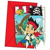 6 Cartes dinvitation Jake et les pirates
