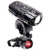 LICLI 自転車ライト 防水 USB 充電式 明るい LED ヘッドライト 前照...