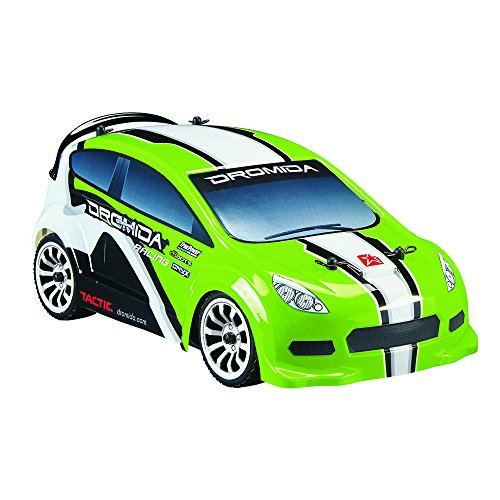 - Dromida 1:18 Scale RTR Remote Control RC Car: Electric 4WD Rally Car with 2.4GHz Radio, 7.2V 6C 1300mAh NiMH Rechargeable Battery, 4 x AA Batteries and Charger