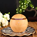 KICODE TOPmountain Wood Grain Air Aroma Oil Essential Diffuser Purifier Refresh Ultrasonic Aromatherapy Humidifier Office Home Bedroom and Office