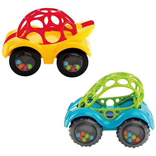 Price comparison product image O Ball 1-Piece Rattle & Roll Car,  Assorted Colors