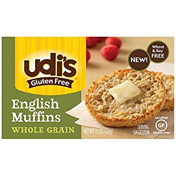 Udis Gluten Free Whole Grain English Muffins, Soft and ...