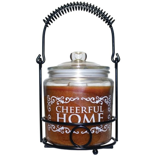 A Cheerful Giver Cheerful Home Honey Pear Cider Jar Candle, 26 oz (Honey Pear Cider)