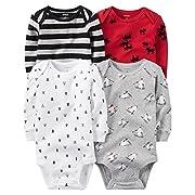 Carter's Baby Boys' Multi-Pk Bodysuits 126g459, Boy Holiday, 6M