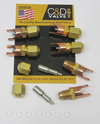 C&D Braze-On Self-Piercing Copper Saddle Valve for 3/8