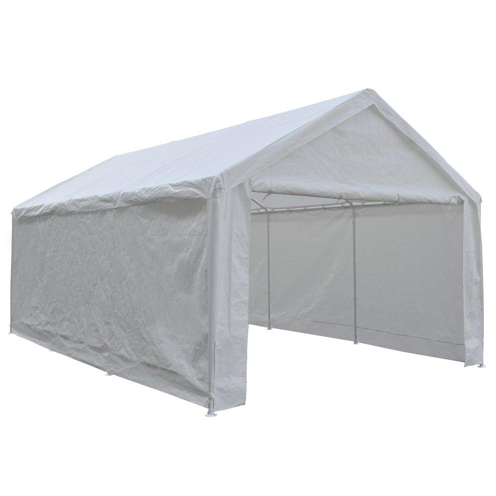 Heavy Duty Carport Enclosure : Abba patio feet heavy duty domain carport car