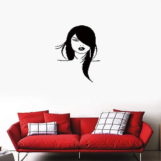 pegatinas de pared tortugas ninja Chica mujer cara silueta ...