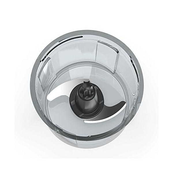 Imetec CH 500 Tritatutto, Lame in Acciaio Inox, Contenitore 400 ml, Funzionamento a Pressione, Compatto, 350 W, Nero 2