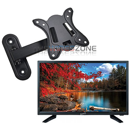 "Supersonic SC-1911 19"" LED Widescreen AC/DC 1080p HDTV Television + Wall Mount"