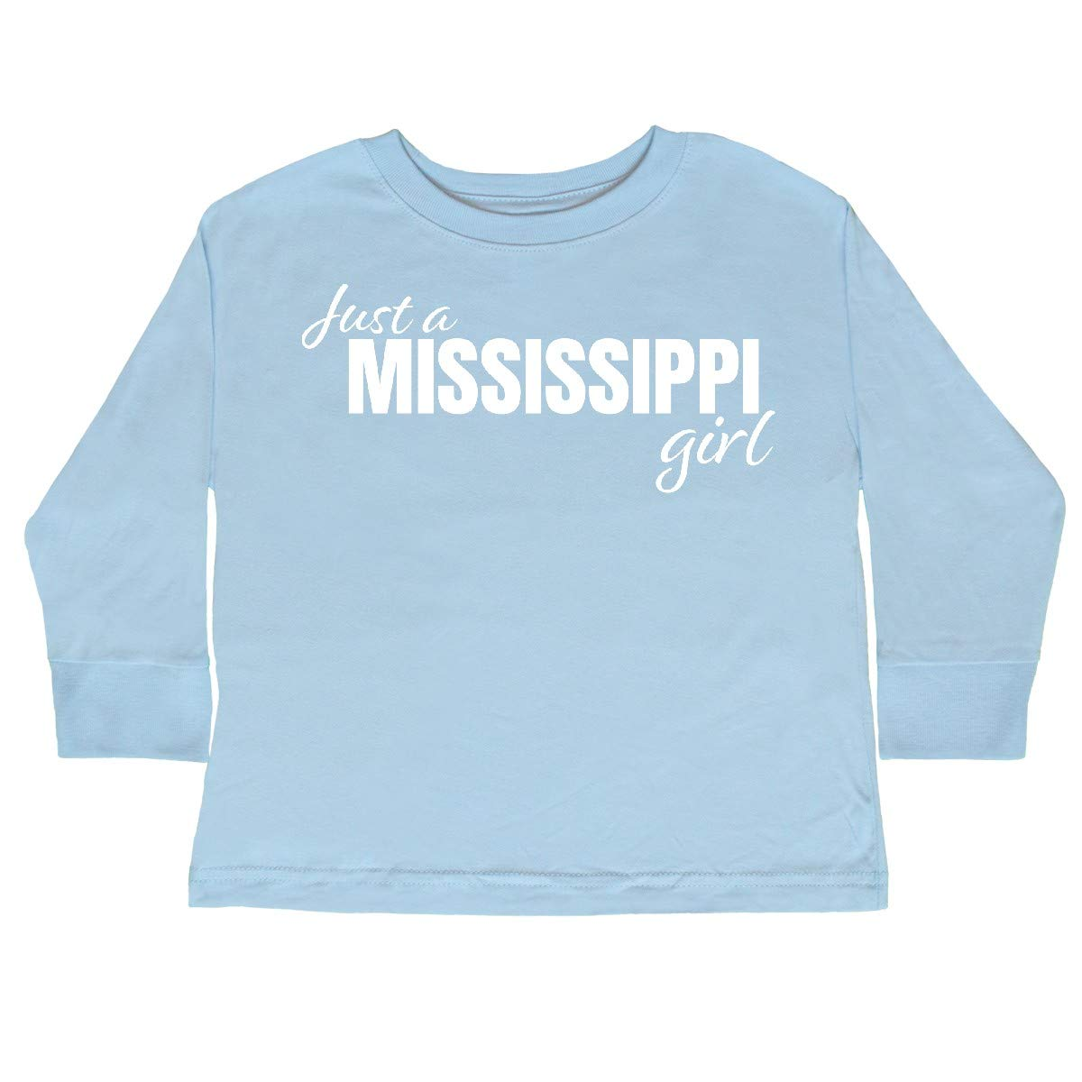 inktastic Just a Mississippi Girl Born and Raised Toddler Long Sleeve T-Shirt