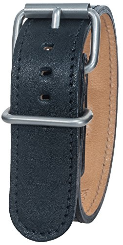 Bertucci B-10M Montanaro Survival Duration Leather Black 22mm - Bertucci Watch Bands Leather