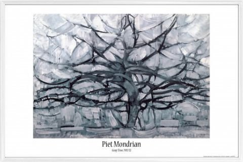 Piet Mondrian Poster and Frame  - Gray Tree, 1912