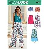 Simplicity Creative Patterns New Look 6271 - Patrones de Costura para Falda de Mujer en Tres Longitudes y Pantalones o Pantalones Cortos, A (10-12-14-16-18-20-22)