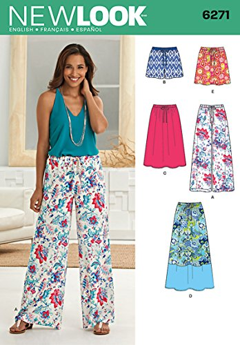 Simplicity Creative Patterns New Look 6271 Misses' Skirt in Three Lengths and Pants or Shorts, A -