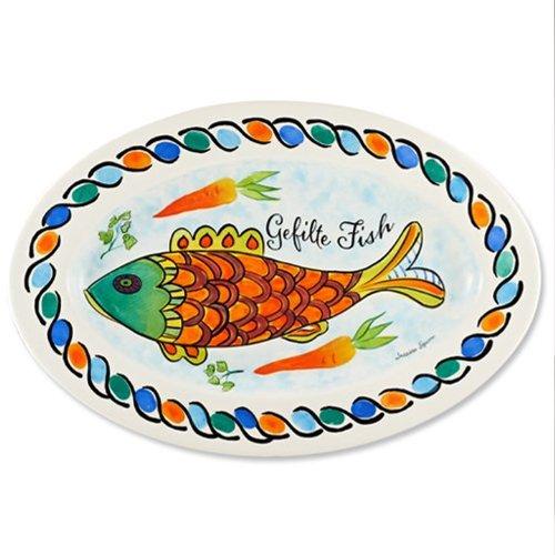 Gefilte Fish Platter Ceramic by Jessica Sporn
