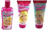Barbie Shampoo , Bubble Bath, Body Wash - 3 pc Set