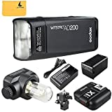 GODOX AD200 TTL 2.4G HSS 1/8000s Pocket Flash Light Double Head 200Ws with 2900mAh Lithium Battery Flashlight Flash Lightning+GODOX X1T-S 2.4G Wireless Flash Trigger Transmitter for Sony DSLR Cameras