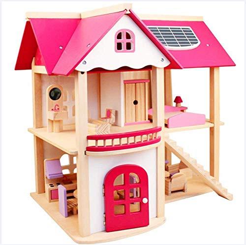 HYFZY Barbie Dreamhouse De Habitación Mueble De Madera para Casa De Muñecas Juguete Niños