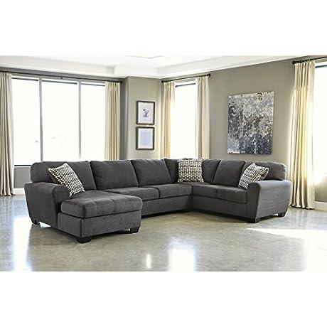 Sorenton Fabric Slate Color Sectional Sofa