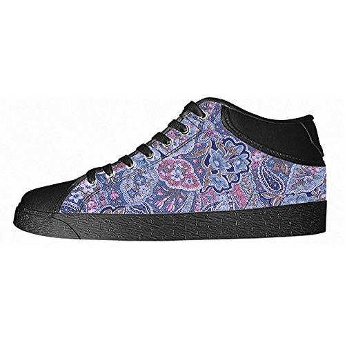 Chaussures De Toile De Womens De La Coutume De Paisley Les Chaussures De Lacets Baskets Haut-dessus