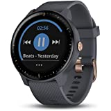 Garmin vívoactive 3 Music, GPS Smartwatch with Music Storage and Built-in Sports Apps, Granite Blue/Rose Gold