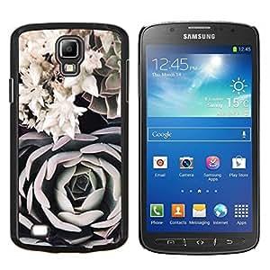 LECELL--Funda protectora / Cubierta / Piel For Samsung Galaxy S4 Active i9295 -- Composición Arte Negro Rosa Blanca --