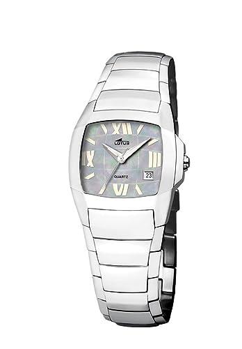30299427cd75 Lotus Shiny 15316-3 - Reloj de mujer de cuarzo con correa de acero  inoxidable plateada  Amazon.es  Relojes