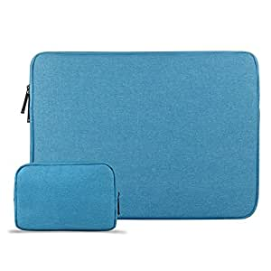 CLOUDSTOO 15-15.6 Pulgadas Funda para MacBook Pro/Notebook, con un Bolso Extra, Impermeable Ordenador Portátil Funda, Laptop Manga Bolsa, Azul: Amazon.es: ...