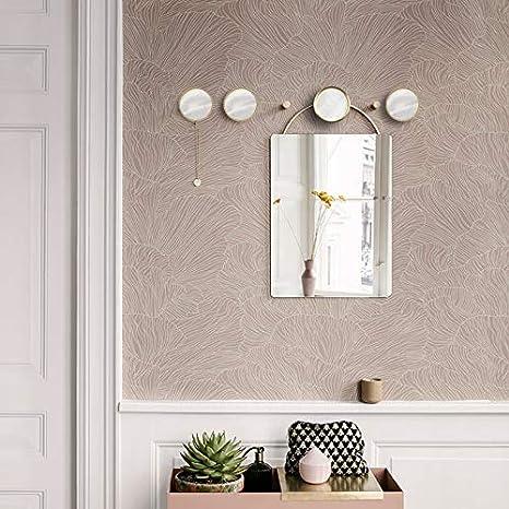 4 Piezas Color claro Ganchos para Colgar en la pared Ganchos para Toallas Ganchos Decorativos de pared de Lat/ón Dorado
