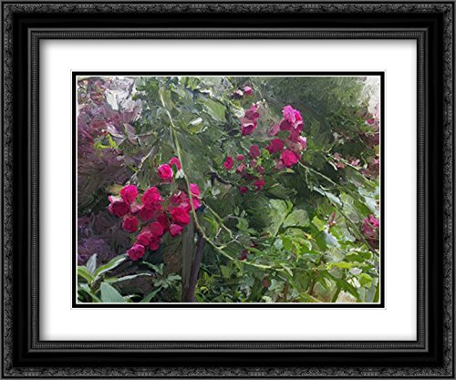 Galleria Monets Garden (Monets Garden 2x Matted 24x20 Black Ornate Framed Art Print by Butcher, Sarah)