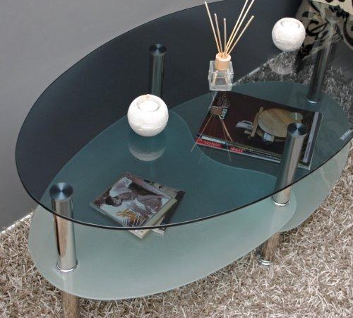 Sofa rund oval  Glastisch Couchtisch Wohnzimmer Oval + 8 mm ESG Sicherheitsglas ...