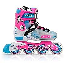 Miami Pink Girl's Women's Adjustable Inline Skates in Various Sizes