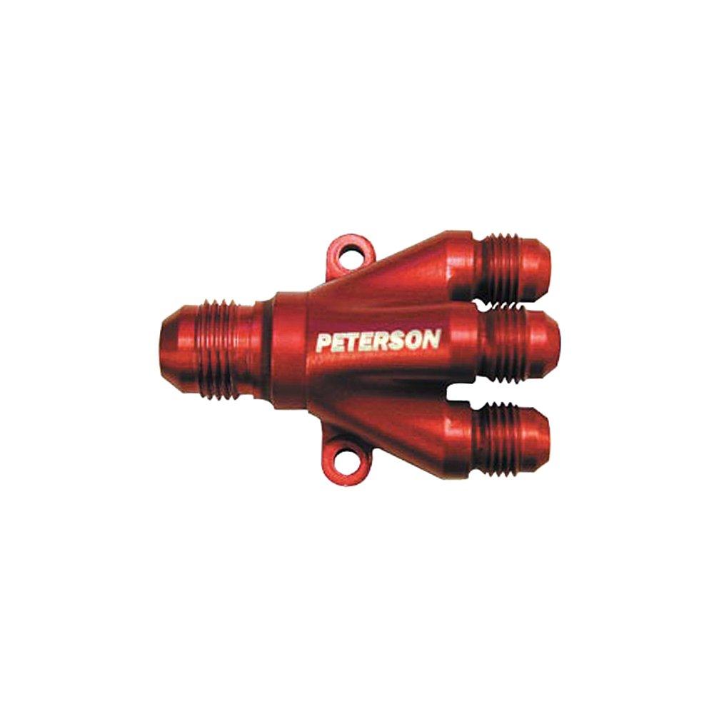 Peterson Fluid Systems 10-0041 8AN X 6AN X 6AN X 6AN Billet 4-Way Manifold by Peterson Fluid Systems (Image #1)