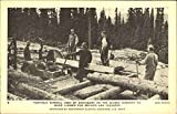Used Sawmill Best Deals - Portable Sawmill Used By Engineers On The Alaska Highway Edmonton, Canada Original Vintage Postcard
