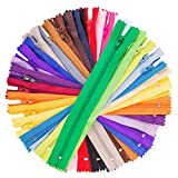 zippers for sewing bulk - 100Pcs 9 Inch Nylon Coil Zippers Tailor Sewer Bulk for Sewing Crafts (25 Colors)