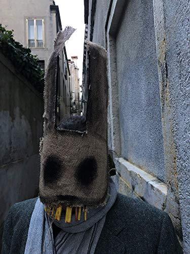Creepy Rabbit Mask - Burlap Bunny