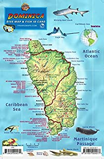 Dominica Street Map With Index Kasprowski Publisher - Map of dominica caribbean sea
