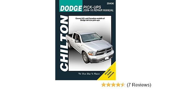 Dodge Full-size Pick-ups, 2009-16 (Chilton Automotive): Haynes Publishing: 9781620922705: Amazon.com: Books