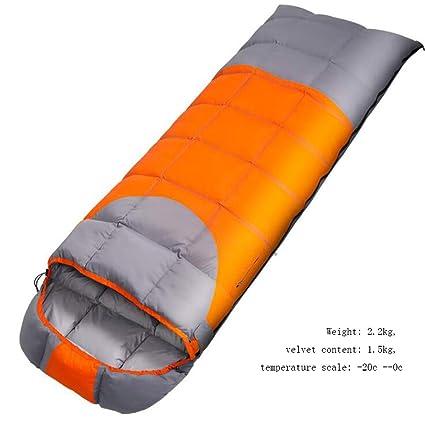 SZ JIAOJIAO Saco de Dormir Ligero Sobre Saco de Dormir Sola Costura Caliente Saco de Dormir