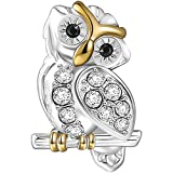 SOUFEEL Golden Wise Owl Charms Lovely Owl Beads 925 Sterling Silver Fit European Bracelet