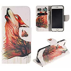 "Painted Colorido Serie PU Cuero Cartera Caso cubrir Funda para Apple iPhone 6s Plus / iPhone 6 Plus 5.5"" Case Carcasa protectora piel Shell con ranuras Tarjetas (T03#)"