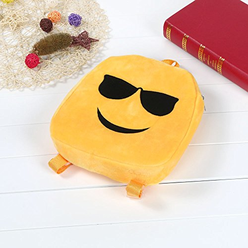 Rucksack JESPER C Cute Backpack Bag Emoji Shoulder Satchel Child School Yellow Emoticon Handbag qzwq4