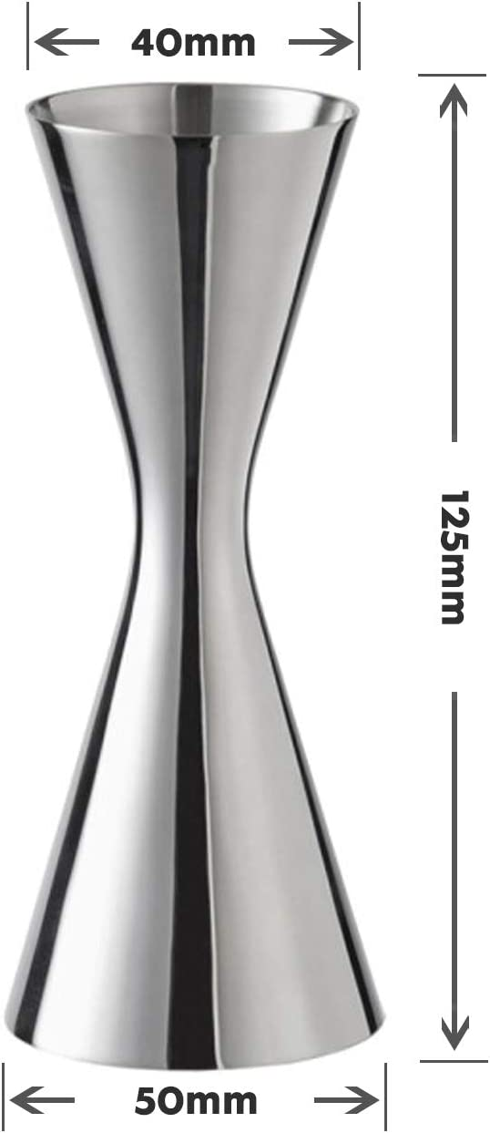2oz. Stainless Steel Double Jigger,Japanese-Style Silver Stainless Steel Cocktail Jigger,Wine measuring device,Stainless Steel Cocktail layered measuring cup 1oz
