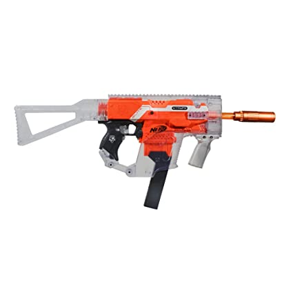 WORKER Mod Kriss Vector DIY Kits Combo 12 Items Sets for Nerf STRYFE Toy  Color Clear Orange - Blaster not included