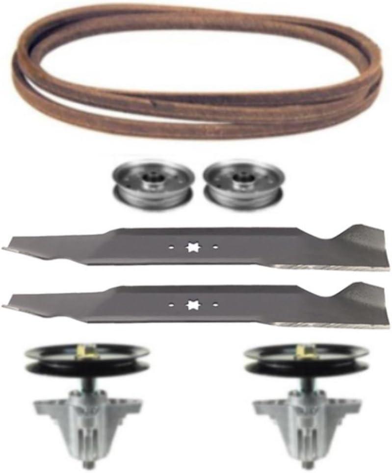 "Craftsman 44/"" Deck Lawn Tractor Mower Deck Rebuild Kit Belts Spindles"