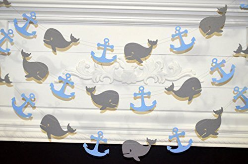 WHALE-baby-shower-whale-garland-whale-garland-baby-boy-birthday-nautical-garland-decoration-nautical-birthday-whale-watchers-whale-and-anchor-garland-anchor-garland-nautical-birthday-decor